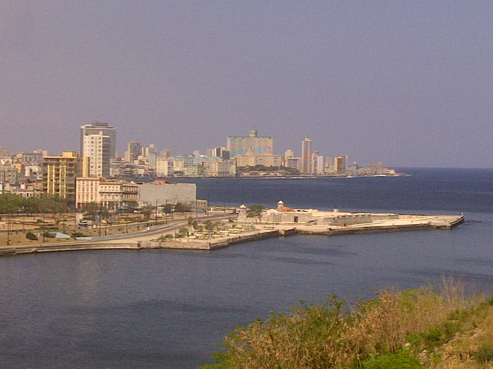 View from the Fort looking over Havana and the bay