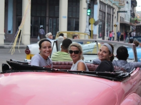 Cruising around Havana in a classic car